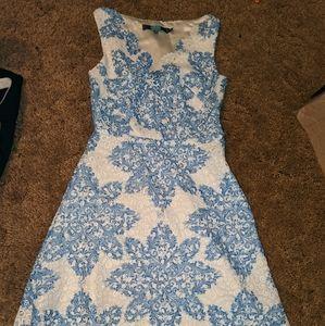 Eva Franco sz 0 blue and white dress